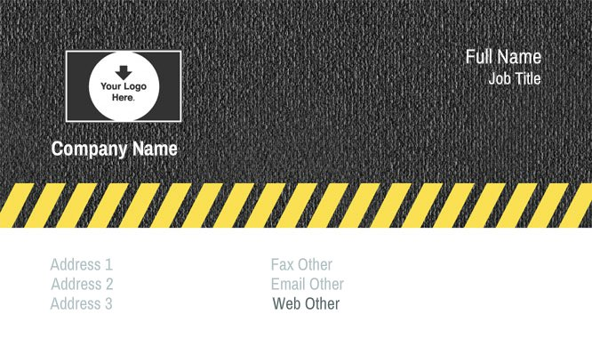 Black and Yellow Auto Repair Business Card Template
